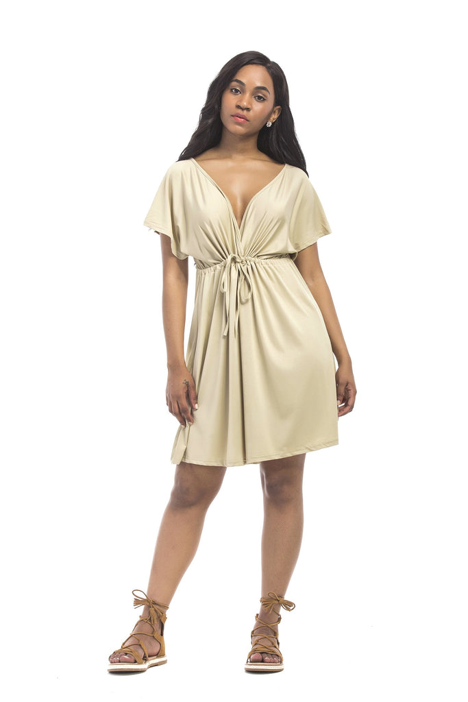Sexy V-neck Belted Dress Party Dress FP3316