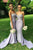 Elegant Sweetheart Brush Train Mermaid Evening Dress Bridesmaid Dress B424