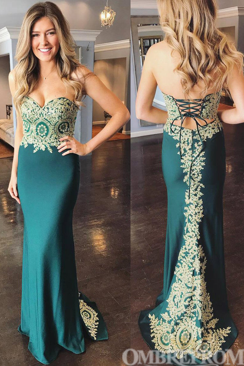 Mermaid Prom Dress Sweetheart Lace Up Party Dress D174