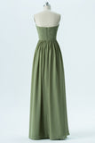 Pale Moss Green Sweetheart Floor Length Bridesmaid Dresses,Mid Back Simple Bridesmaid Gowns OB116 - Ombreprom
