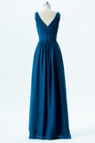 Winter Teal Sweetheart Simple Bridesmaid Dresses,Sleeveless Floor Length Bridesmaid Gowns OB126 - Ombreprom