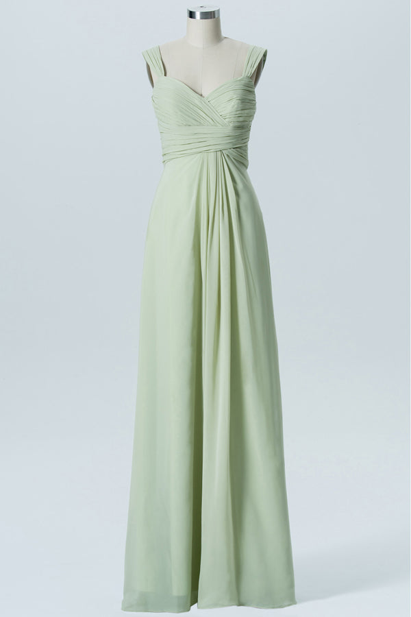 Seafoam Green Sweetheart Sleeveless Simple Bridesmaid Dresses,Mid Back Long Bridesmaid Gowns OB128