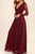Burgundy Long Sleeve Simple Bridesmaid Dresses,Open Back Hollow Long Bridesmaid Gowns OB129 - Ombreprom