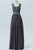 Charcoal Grey Sweetheart Floor Length Sequins Beading Appliques Chiffon Bridesmaid Dress OMB35 - Ombreprom