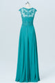 Green Floor Length Capped Sleeve Sweetheart Chiffon Appliques Bridesmaid Dresses OMB04