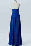 Blue Sweetheart Strapless Simple Bridesmaid Dresses,Mid Back Long Bridesmaid Gowns OMB62 - Ombreprom