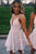 A-Line Spaghetti Strap Short Graduation Prom Dress, Homecoming Party Dress P321