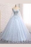 Sweetheart Tulle Long Appliques Wedding Gowns,Hollow Bodice Wedding Dress