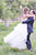 Strapless Sweetheart A Line Wedding Gowns,Floor Length Ruffles Wedding Dress OMW54