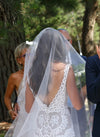 Simple V Neck Sleeveless Wedding Gowns,V Back Hollow Beach Wedding Dress OMW86