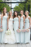 One Shoulder A Line Sweetheart Bridesmaid Dress B530