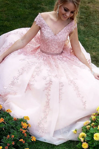 products/Pink_Off_Shoulder_V_Neck_Prom_Dress_with_Beading_Ball_Gown_D173_1.jpg
