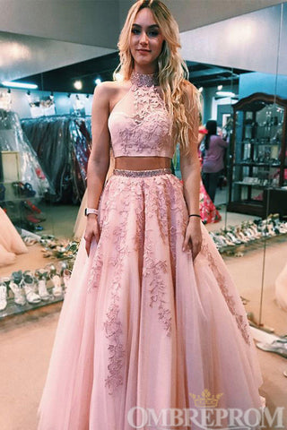 products/Pink_Two_Piece_Halter_Lace_Prom_Dress_with_Beading_D269_2.jpg
