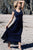 Charming Ankle Length V Neck Sleeveless Lace Appliques Prom Dress P690 - Ombreprom