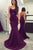 Charming Spaghetti Straps Satin Sweep Train Trumpet Prom Dress P711