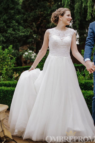 products/Round_Neck_A_Line_Wedding_Dress_Sweep_Train_Bridal_Gown_W697_4.jpg
