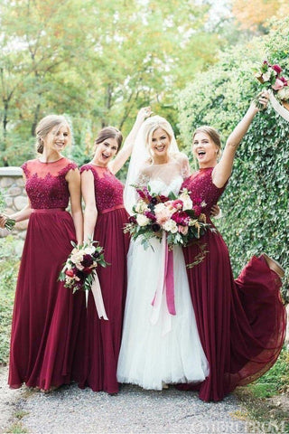 products/Round_Neck_Tulle_Floor_Length_Burgundy_Bridesmaid_Dress_B474_2.jpg