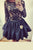 Black Jewel Neck Long Sleeve Homecoming Dress,Appliques Open Back Short/Mid Prom Dress H232 - Ombreprom