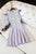 Lavender Sleeveless Homecoming Dress, Appliques Short Prom Dress H201