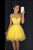 Yellow Sheer Sleeveless Homecoming Dress,Layers Tulle Beading Short Prom Dress H204 - Ombreprom