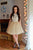 Scoop Sleeveless Homecoming Dress,Open Back Appliques Short/Mini Prom Dress