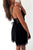 Black A Line Deep V Neck Sleeveless Open Back Homecoming Dress,Short/Mini Prom Dress H256 - Ombreprom