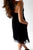 Black A Line Sweetheart Strapless Sleeveless Mid Back Knee Length Homecoming Dress H257 - Ombreprom