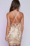 Sheath Halter Sleeveless Backless Sequins Beading Short Homecoming Dress H273 - Ombreprom