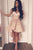 Sweetheart Neck A-Line Lace Knee Length Homecoming Dresses M462