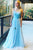 Simple A Line Evening Dress Tulle Floor Length Lace Formal Party Dress D181