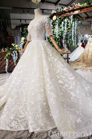 products/Sparkly_Half_Sleeves_Lace_Wedding_Dress_with_Appliques_Bridal_Gown_W715_6.jpg