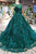 Stunning Round Neck Cap Sleeves Prom Dress with Appliques D211