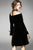 Charming Black Round Neck Long Sleeves A Line Homecoming Dress M553 - Ombreprom