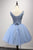 Luxurious  A-line Straps Knee Length Short Tulle Homecoming Dresses M463