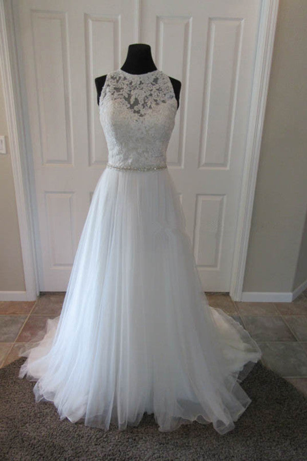 Tulle Princess Wedding Dresses Elegant Ball Gown OM563 - Ombreprom