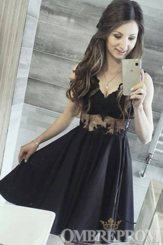 products/V_Neck_Sleeve_Little_Black_Dress_Prom_Dress_Lace_Homecoming_D352_1.jpg