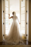 Sweetheart Strapless Layers Tulle Cheap Wedding Gowns,A Line Beading Beach Wedding Dress W109 - Ombreprom