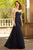 Dark Navy Chiffon A-Line Sweetheart Sleeveless Floor-Length Long Prom Dresses with Appliques P551 - Ombreprom