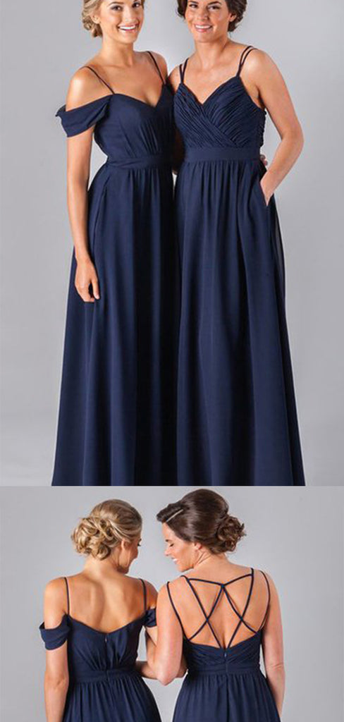 Cheap Chiffon Floor Length Long Bridesmaid Dress B370