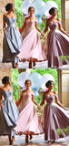 Chic Sweetheart Ankle Length Off-the-shoulder Bridesmaid Dress B373