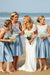 Charming Satin Neckline Knee-length A-line Bridesmaid Dresses B359