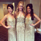 Stunning Sequins Spaghetti Straps V Neck Sleeveless Bridesmaid Dress B434