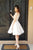 Charming A-Line Bateau Knee-Length Appliques Sleeveless Homecoming Dresses M310 - Ombreprom