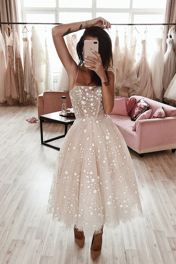Sparkly Starry Night Short Prom Dress Sequins Homecoming Dress M800