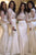 Cheap Two Pieces High Neck Lace Appliques Long Sleeves Bridesmaid Dress B446