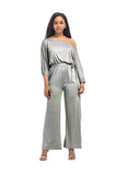 Comfortable Fabric Long Sleeve Plus Size Jumpsuit FP2601