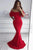 Cheap Red Mermaid Off the Shoulder Long Evening dresss Prom Dress P817