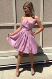 Sparkly A-line Sweetheart Pleats Short Prom Homecoming Dress M706