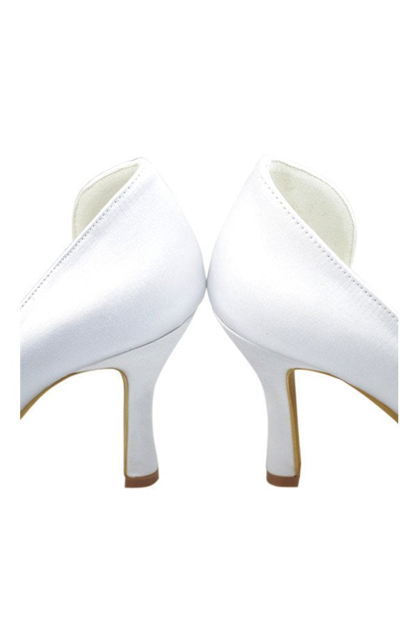 Classy White Close Top Nice Part Shoes - Ombreprom