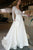 Sexy Long Sleeve See Through V-neck Lace Appliques Wedding Dresses W328